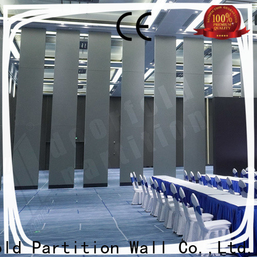 Doorfold competitive price sliding folding partition Factory Direct Supply for commercial