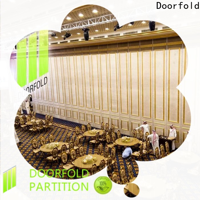Doorfold decorative acoustic movable partitions easy-installation meeting room