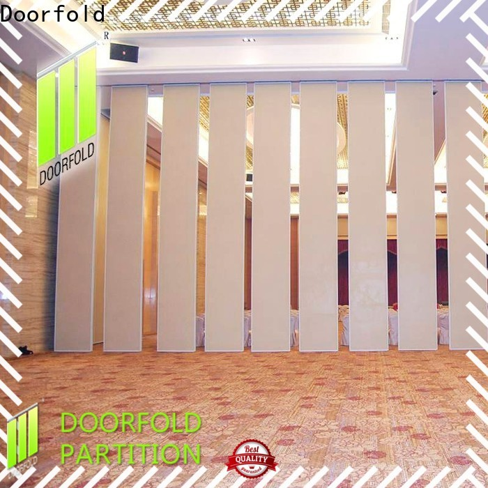 Doorfold Sliding Partition Wall for Hotel cheapest factory price for conference