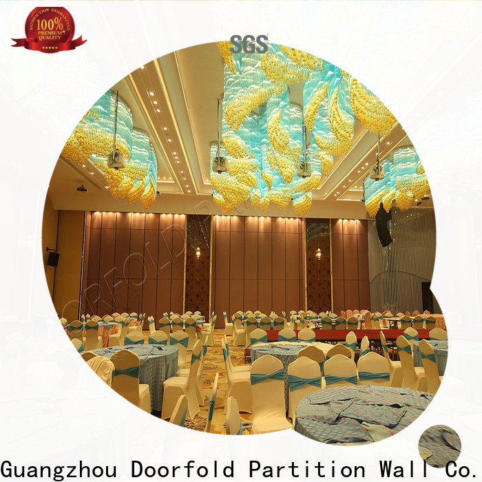Doorfold Sliding Partition Wall for Hotel national standard for meeting room