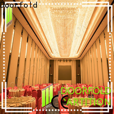 Doorfold Sliding Partition Wall for Hotel easy installation for International Hotel
