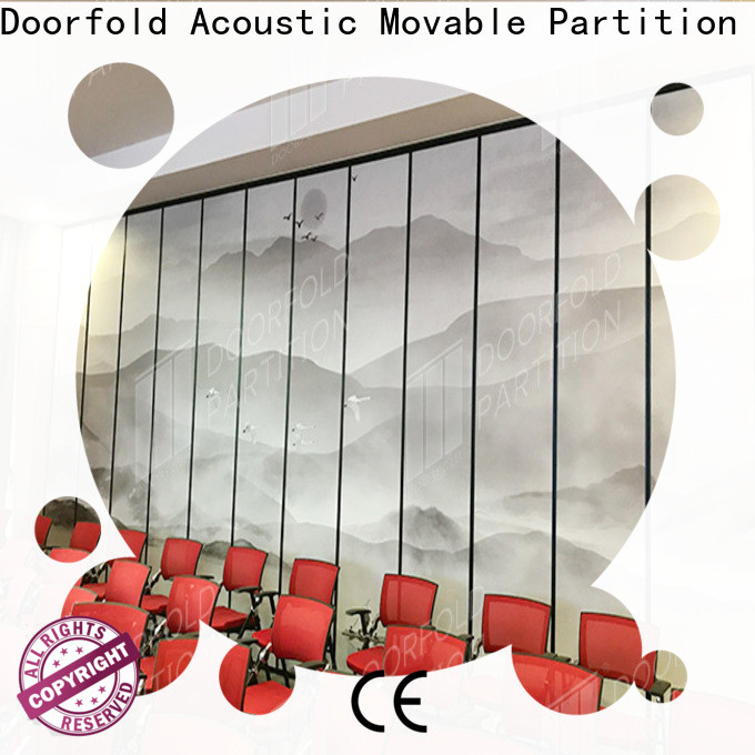 Doorfold custom meeting room partitions high performance best factory price