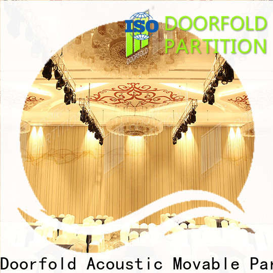 Doorfold large room partitions simple operation best factory price