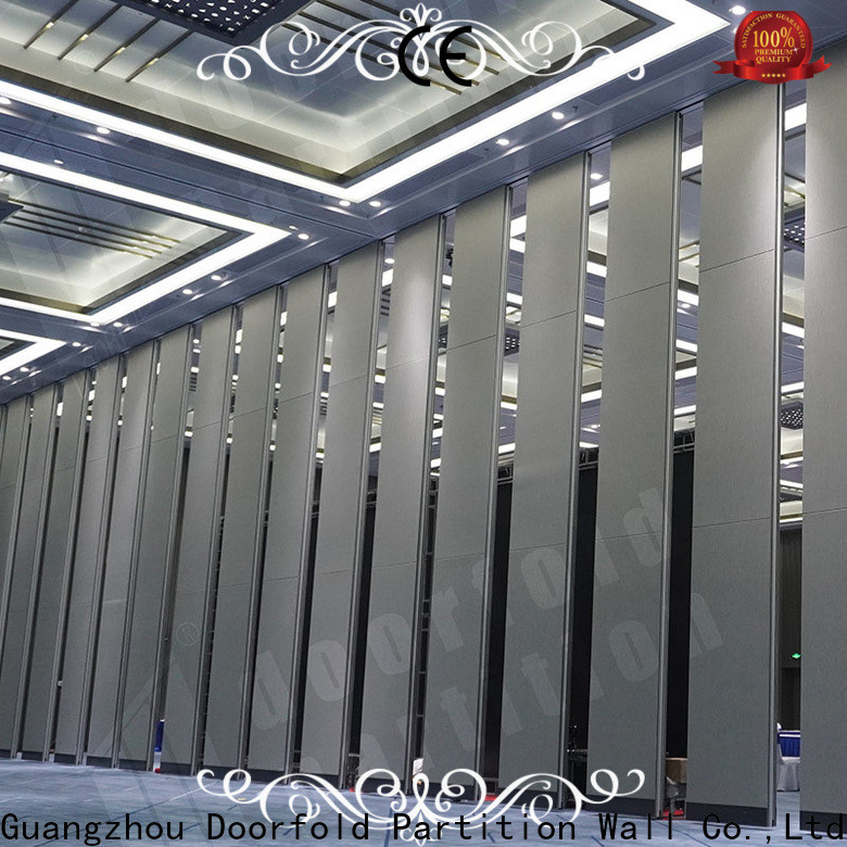 Doorfold folding partition wall beautiful design for meeting room