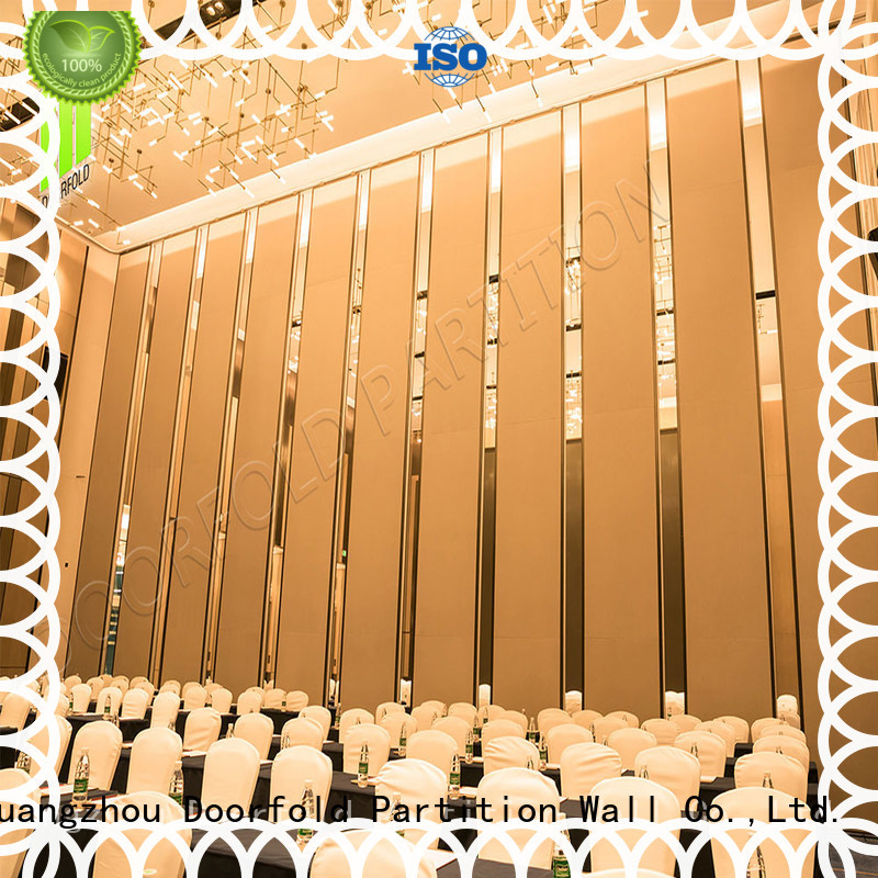 Doorfold retractable room partitions cheap fast delivery meeting room