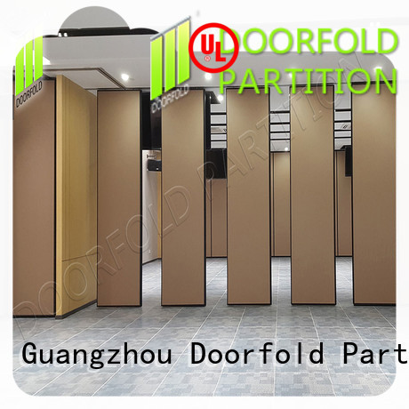 Doorfold sliding folding partitions movable walls durable