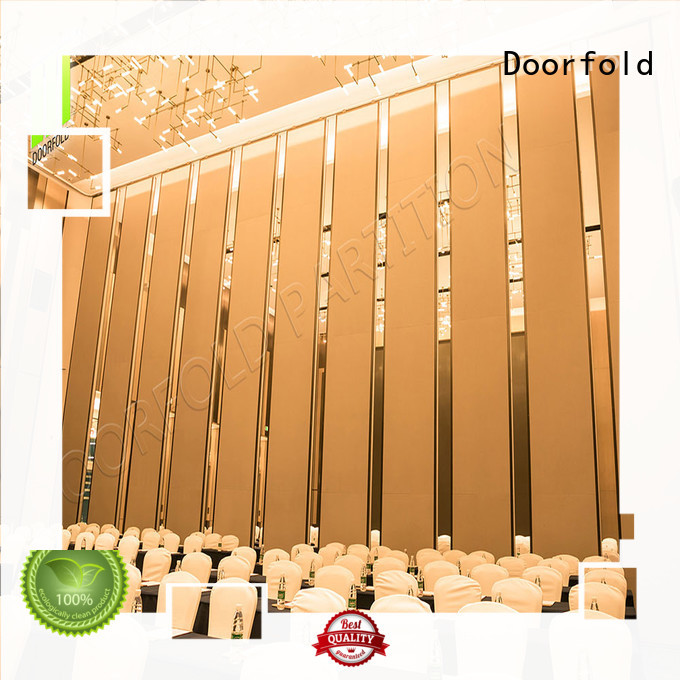 Doorfold decorative acoustic movable partitions easy-installation conference