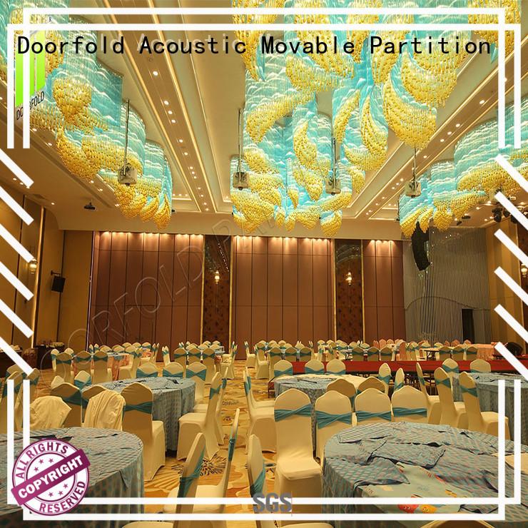 Doorfold flexible sliding room partitions luxury for restaurant