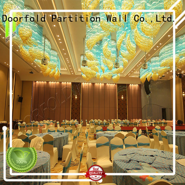 Doorfold commercial Sliding Partition Wall for Hotel luxury for restaurant
