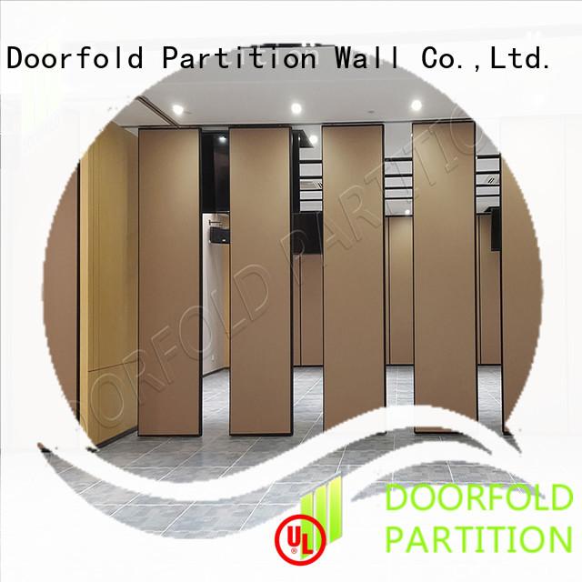 Doorfold acoustic sliding folding partitions movable walls latest design