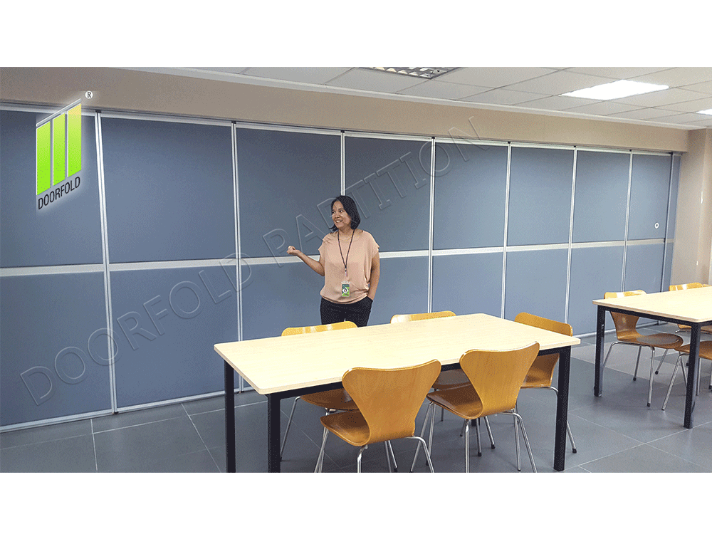 Doorfold movable partition Acoustic Movable Folding Partition Wall for Meeting Room image30