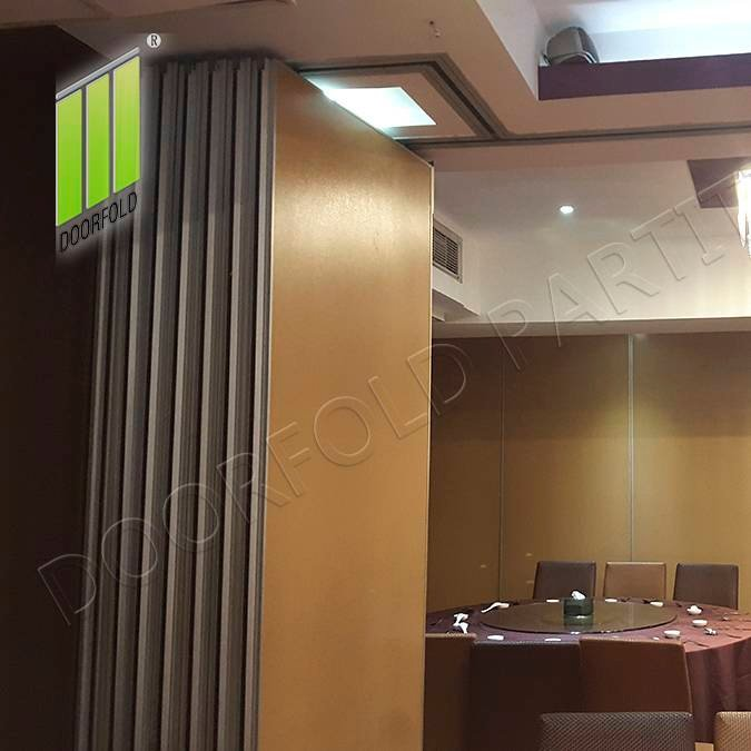 Doorfold movable partition Sliding Sartition Wall for Hotel (LUCK FORTURE SEAFOOD RESTAURANT MANILA PHILIPPINE) Sliding Partition Wall for Hotel image1