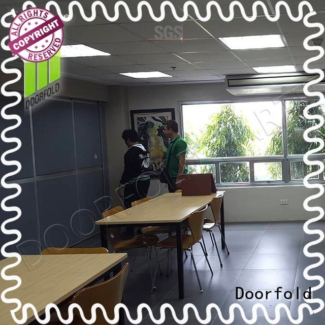 collapsible soundproof movable wall dividers custom for expo Doorfold