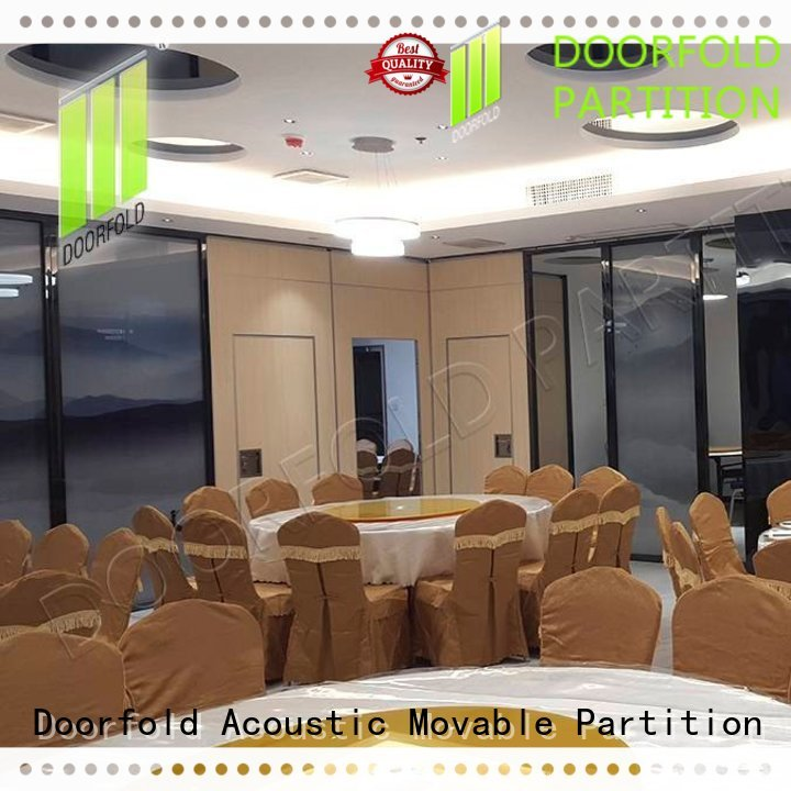 Doorfold spatial hall acoustic movable partitions marriott for conference