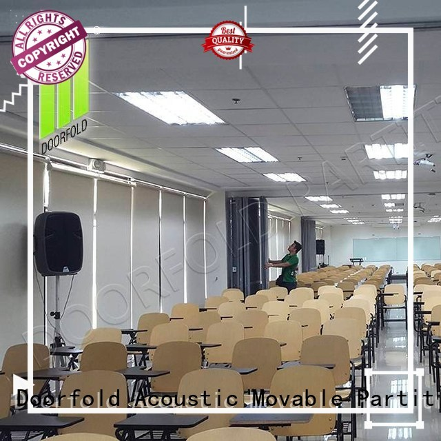 Doorfold folding partition walls commercial bulk production for exhibition
