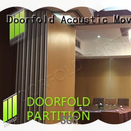 crowne acoustic sliding folding partition wall for conference Doorfold