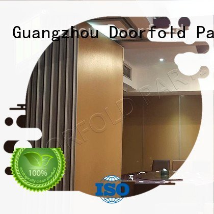 sliding glass partition walls plaza Doorfold movable partition Brand sliding folding partition