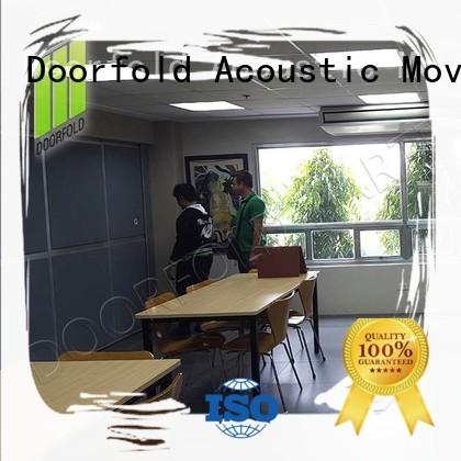proof soundproof sliding walls retractable for meeting room Doorfold