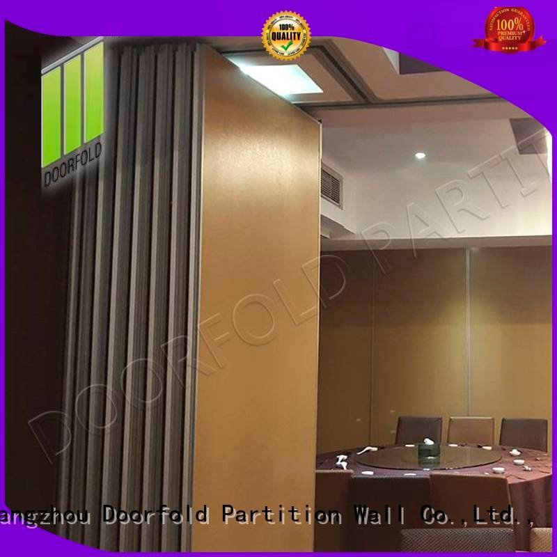 Doorfold movable partition hotel plaza sliding folding partition crowne operable