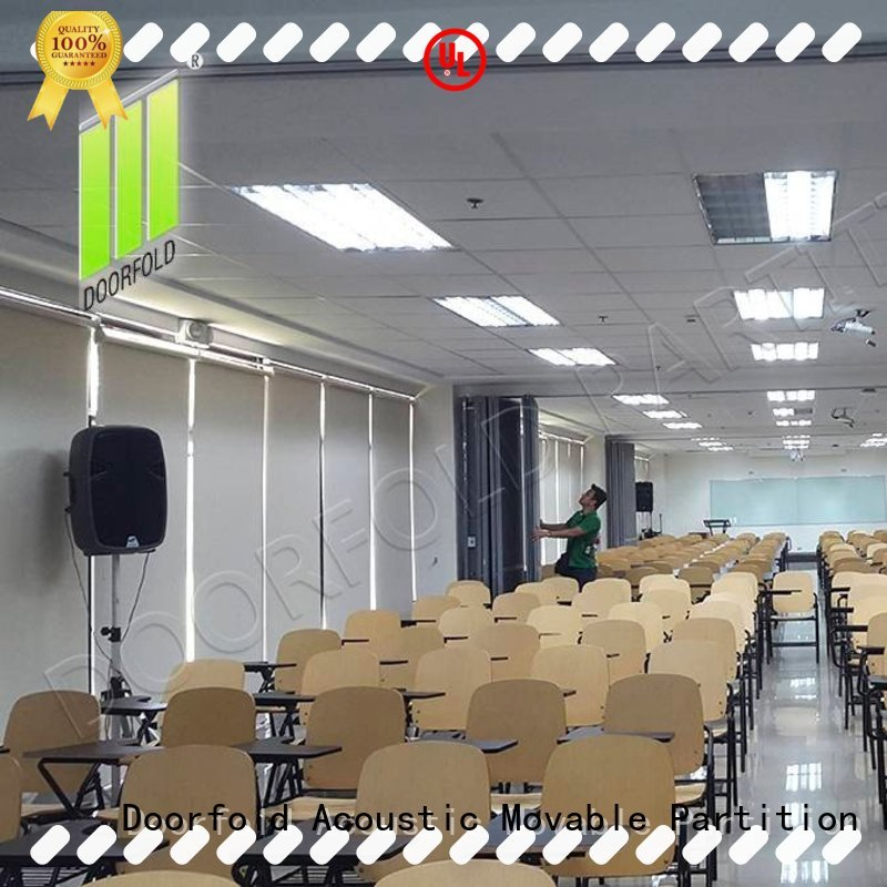 Doorfold collapsible commercial room partitions easy installation for expo center