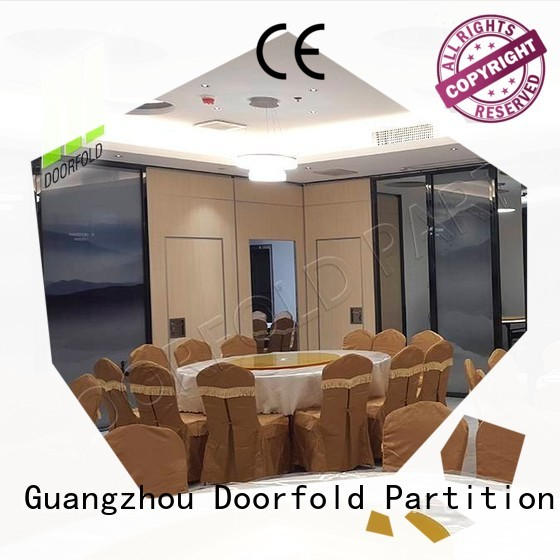 Doorfold retractable conference room partition walls multi-functional meeting room