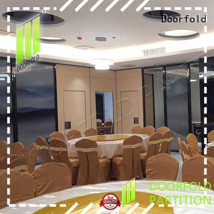 Doorfold acoustic movable partitions multi-functional restaurant