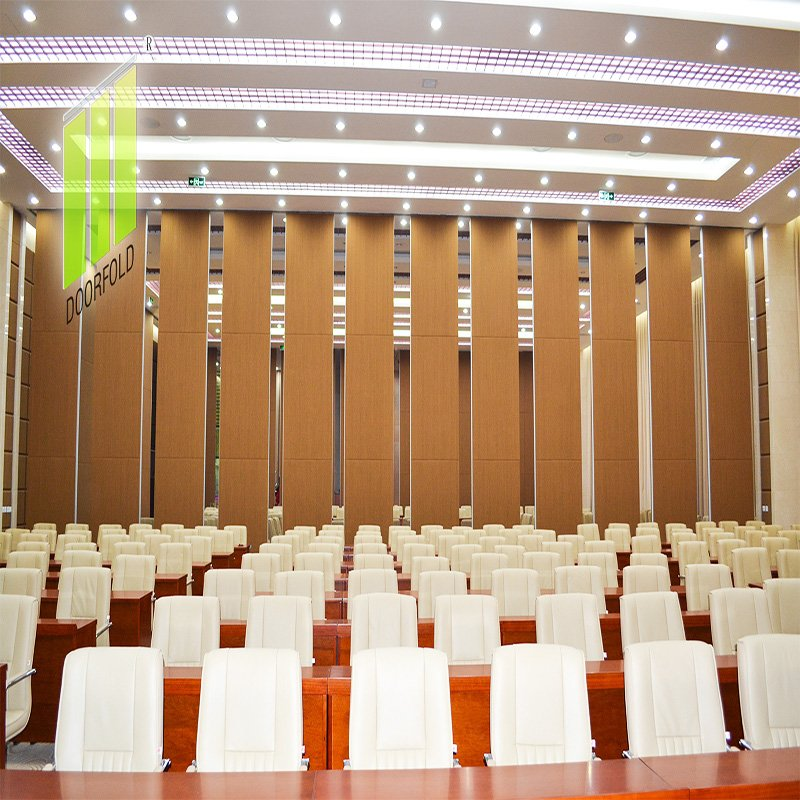 Doorfold movable partition Acoustic Movable Folding Partition Wall for Meeting Room DF-100 Folding Partition Wall for Meeting Room image15