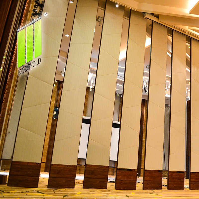 Doorfold movable partition Movable Acoustic Sliding Partition Wall for Crowne Plaza Hotel Sliding Partition Wall for Hotel image14