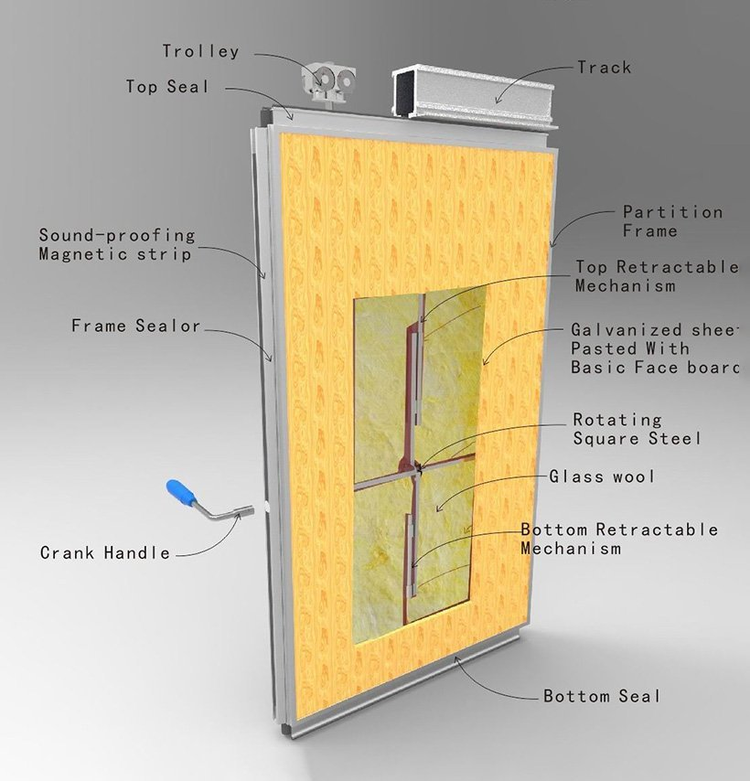 commercial partition walls divider folding OEM folding partition walls commercial Doorfold movable partition