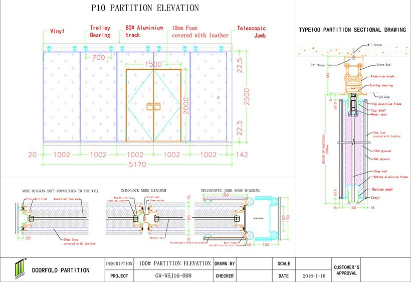 OEM folding partition walls commercial walls partition commercial partition walls