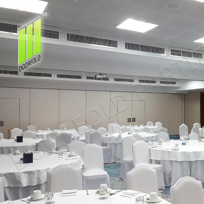 Collapsible Acoustic Sliding Divider Partition for Meeting Room