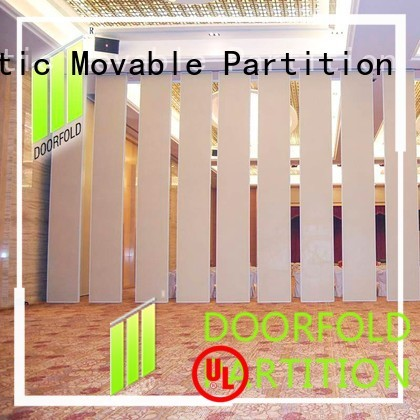 Doorfold movable partition Brand museum sliding folding partition center factory