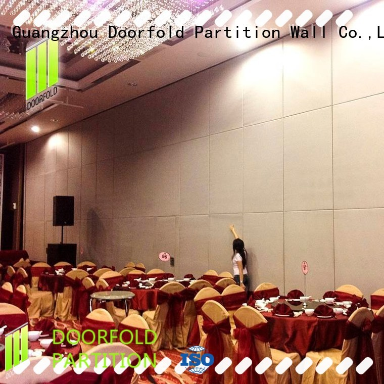 Doorfold commercial sliding glass partition walls operable for office
