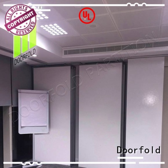 Doorfold sliding partition wall for meeting room