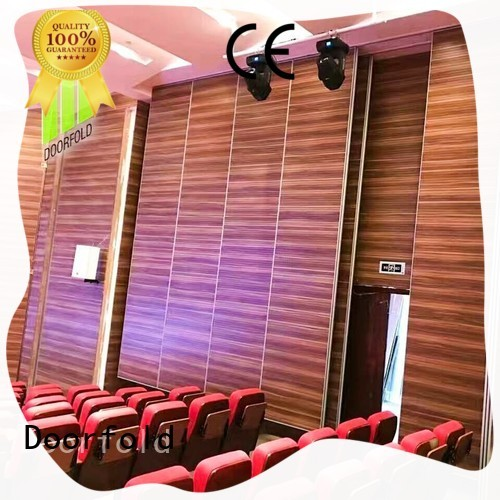 Doorfold acoustic movable walls fast installation for movie