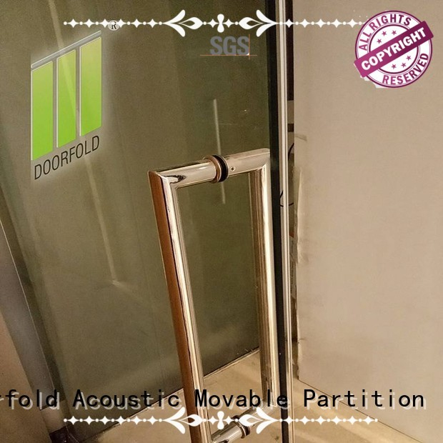 Doorfold glass office partitions highly-rated for office