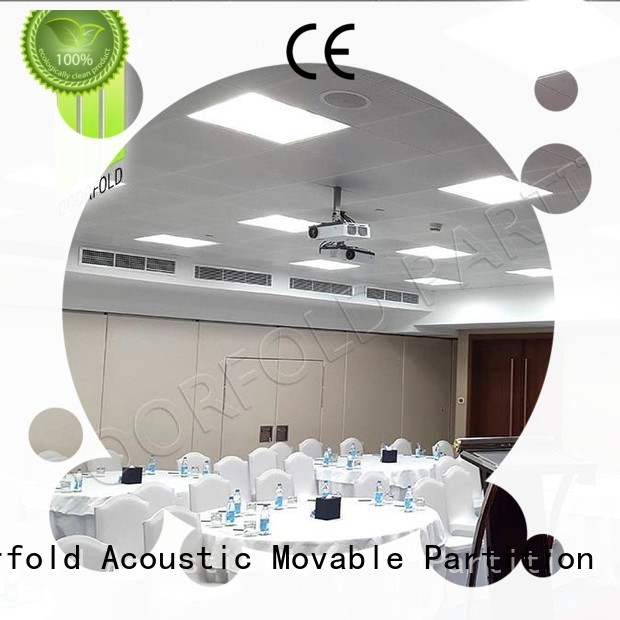 Doorfold hot sale folding partition walls commercial customization for living room