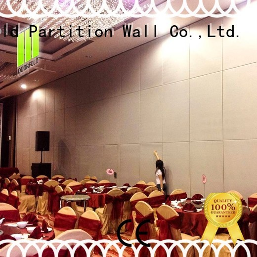 Doorfold movable partition retractable movable acoustic walls sliding folding partitions luck for restaurant
