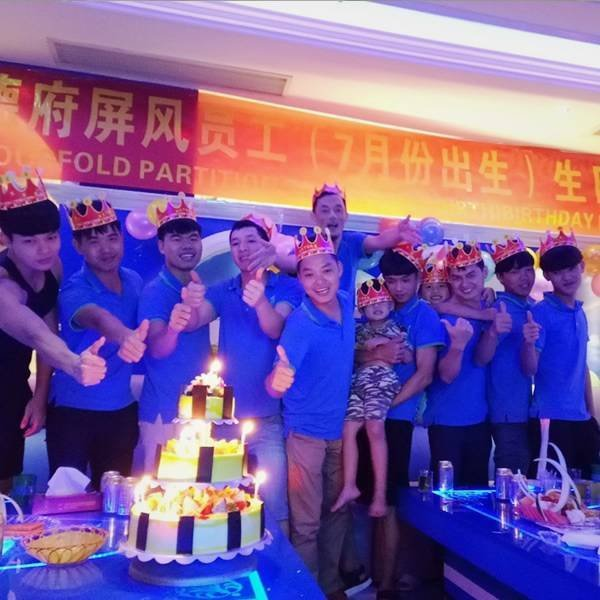 DOORFOLD celebrate July-Birth birthday for his emplotees