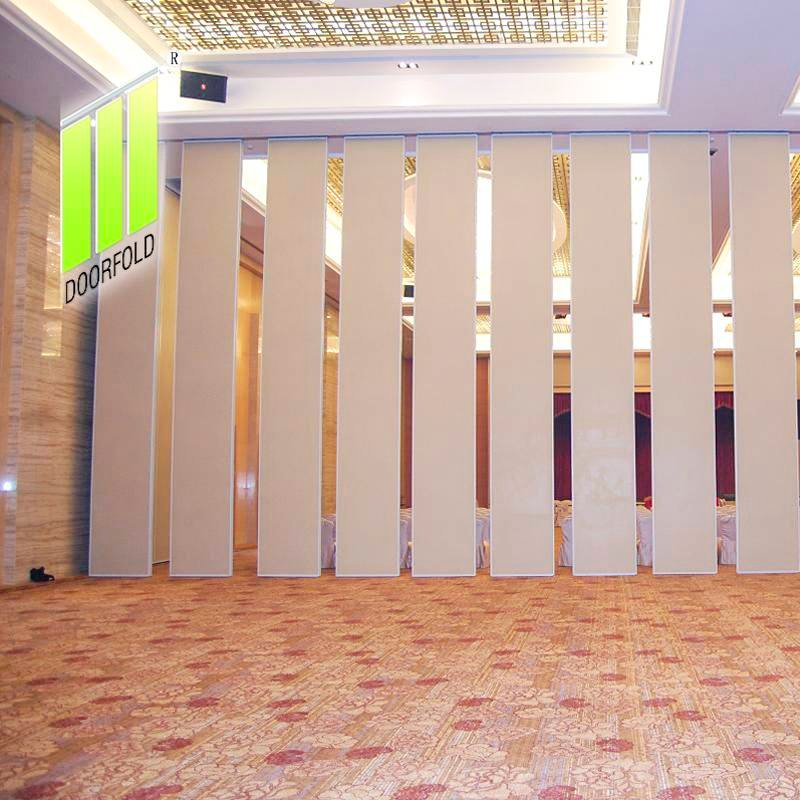 Doorfold movable partition Acoustic Operable Sliding Partition Wall for International Hotel Sliding Partition Wall for Hotel image13