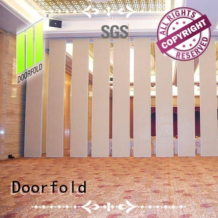 Doorfold international sliding folding partition easy installation for conference