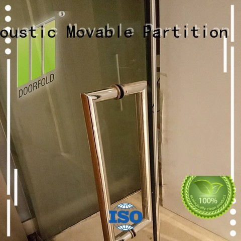 Doorfold easy installation glass partition wall inquire for conference