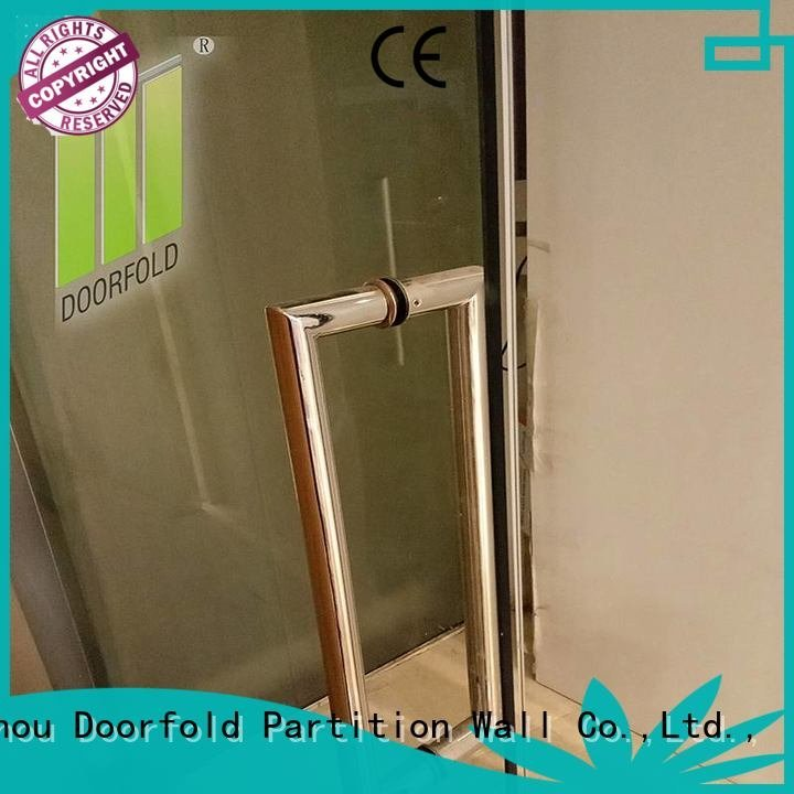 Doorfold movable partition Brand restaurant frameless movable glass partition wall folding