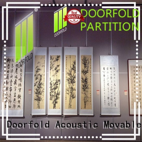 Doorfold acoustic movable walls fast installation for museum