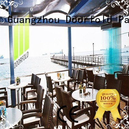 Doorfold movable glass partition wall top-selling for restaurant