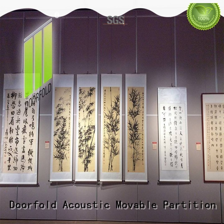 Doorfold acoustic movable walls operable for display