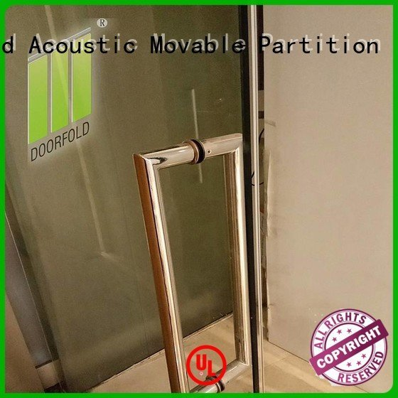 Doorfold movable partition glass partition wall office movable restaurant commercial