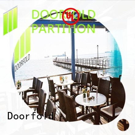 Doorfold portable partition for meeting room