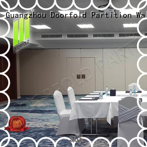 Doorfold retractable sliding folding partitions movable walls durable for hotel