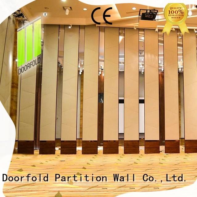 Doorfold sliding room partitions easy installation for restaurant